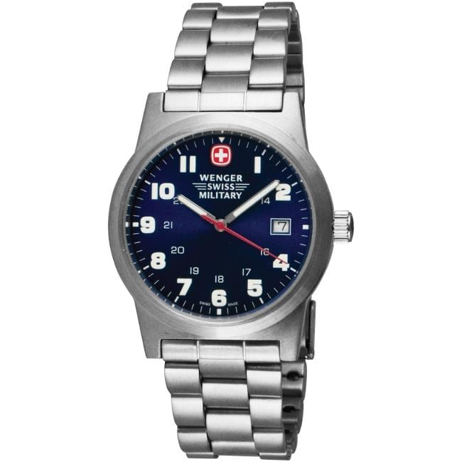 Wenger Men's 'Classic Field' Large Blue Dial Watch