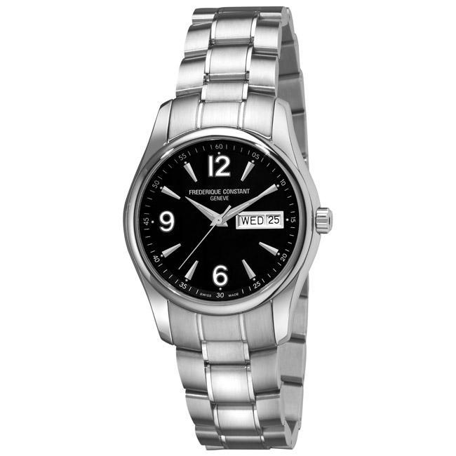 Frederique Constant Men's FC-242B4B26B 'Junior-Quartz' Stainless Steel Day Date Watch