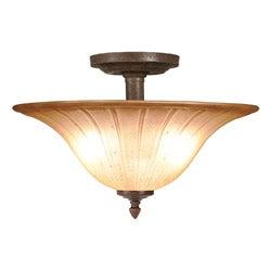Woodbridge Lighting Broadmore 2-light Bordeaux Semi-flush Mount
