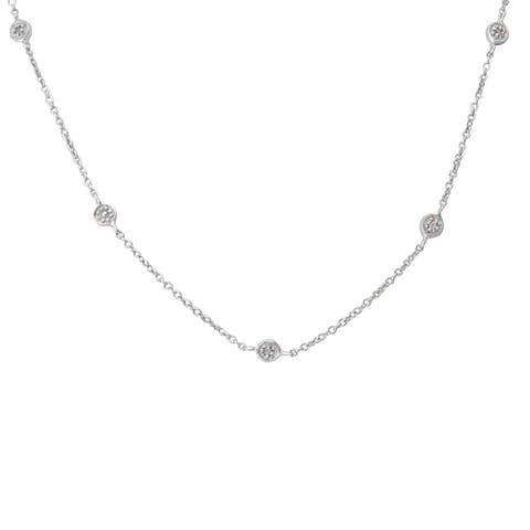 Sterling Silver 1/10ct TDW Diamond Necklace