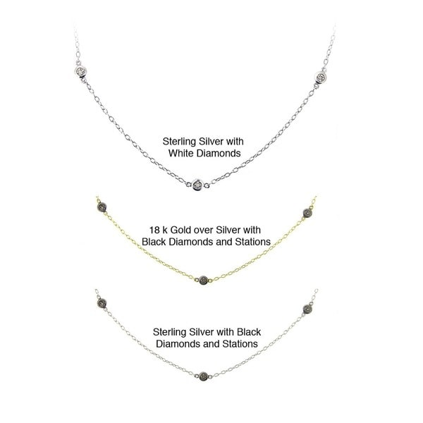 DB Designs Sterling Silver 1/10ct TDW Diamond Necklace