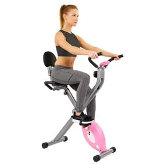 Sunny Health and Fitness SF-RB1117 Pink Folding Recumbent Bike (Option: Pink)|https://ak1.ostkcdn.com/images/products/6175224/P13829162.jpg?impolicy=medium