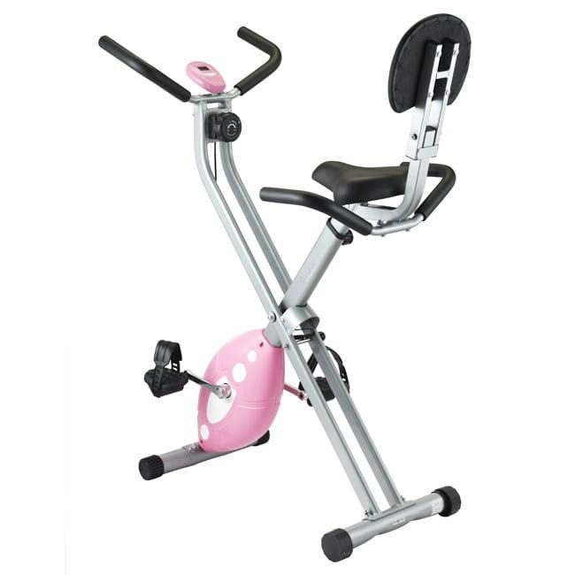Steel-and-plastic Sunny Health Fitness Folding Recumbent X Bike