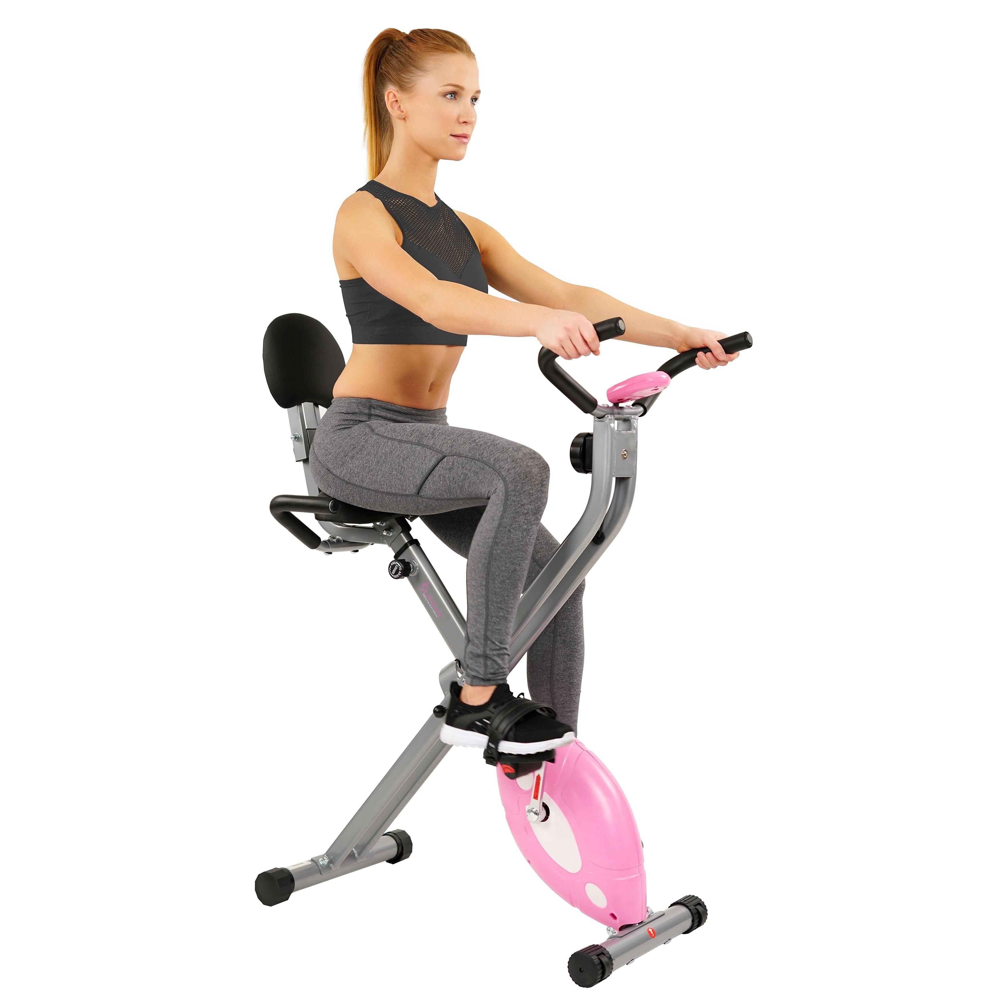 Sunny Health and Fitness  Bike  Pink Folding Recumbent New