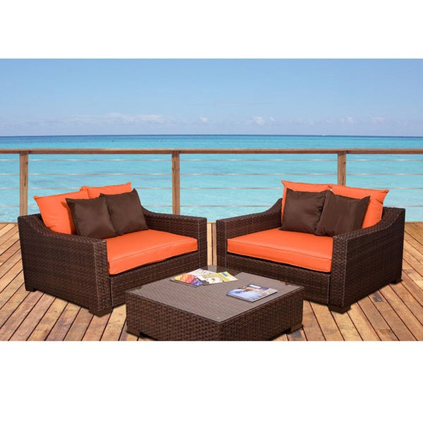 Atlantic Lexington Orange 3-piece Deep Seating Set