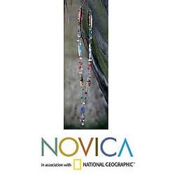 Handmade 'Recycling Rainbows' Multi-gemstone Necklace (Brazil) - Thumbnail 1