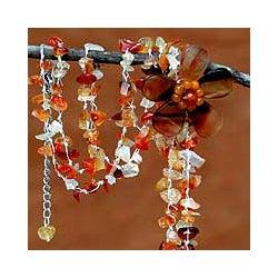 'Floral Rain' Agate Necklace (Thailand)