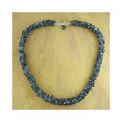 Handmade Iolite 'Blue Shadows' Beaded Necklace (India)|https://ak1.ostkcdn.com/images/products/6175430/Iolite-Blue-Shadows-Beaded-Necklace-India-P13829326c.jpg?impolicy=medium