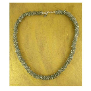 Handmade 'Sensuous' Labradorite Beaded Necklace (India)