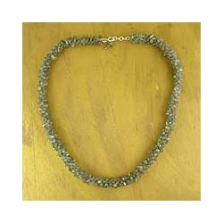'Sensuous' Labradorite Beaded Necklace (India)