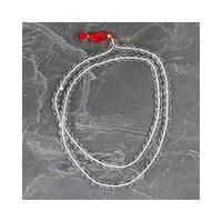 Handmade Quartz 'Pray' Jap Mala Prayer Beads Necklace (India)