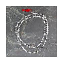 Handmade Quartz 'Pray' Mala Prayer Beads Necklace (India)
