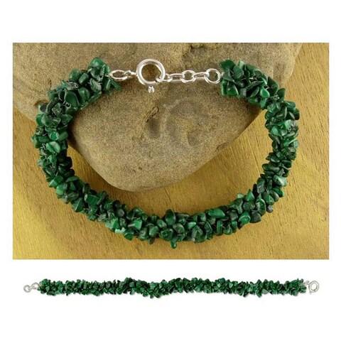 Handmade 'Magic Forest' Malachite Bead Bracelet (India)