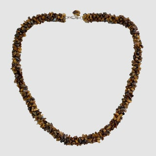 Tiger's Eye 'Honeysuckle' Bead Necklace (India)
