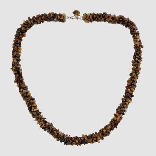 Handmade Tiger's Eye 'Honeysuckle' Bead Necklace (India)