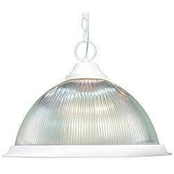 Woodbridge Lighting Basic 1-light White Pendant - Thumbnail 0