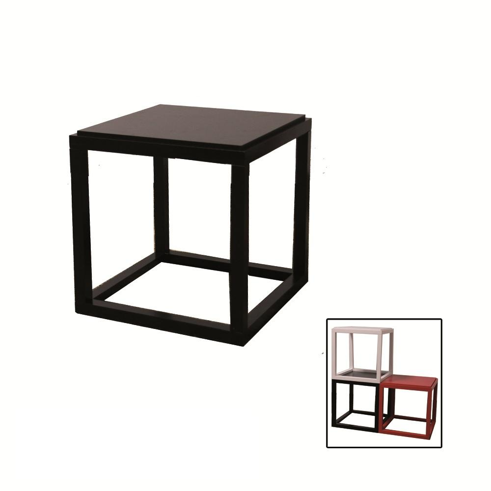 Stackable Black Cubic Table