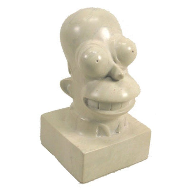 Hand-Carved The Simpsons 'Homer Simpson' Soapstone Sculpture (Kenya)