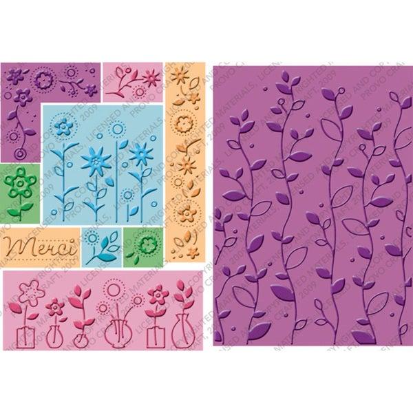Provo Craft Cuttlebug 'Bloom & Grow' All-Iin-One Embossing Plate