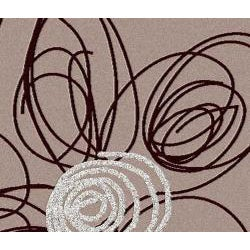 Admire Home Living Brilliance Flower Purple Area Rug (7'9 x 11') - Thumbnail 1