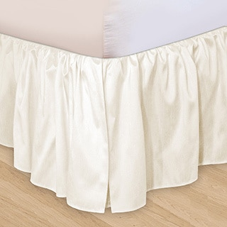 Veratex 'Hike Up Your Skirt' Ruffled Faux Silk Adjustable 17-inch Drop King-size Bedskirt