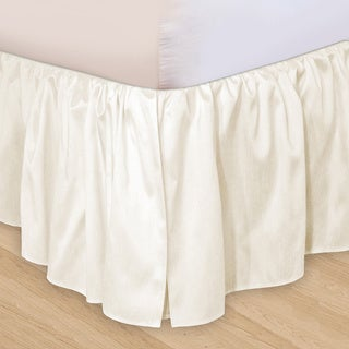 Veratex 'Hike Up Your Skirt' Ruffled Faux Silk Adjustable 16-inch Drop King-size Bedskirt