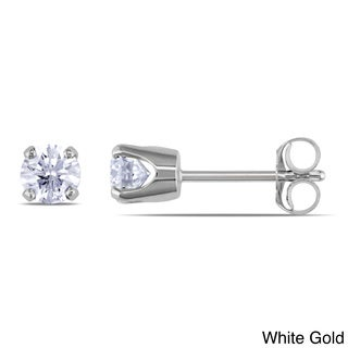 Miadora 14k Gold 1/2ct TDW Diamond Solitaire Earrings