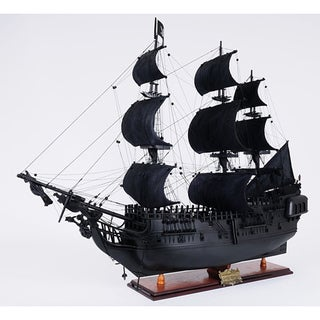 Link to Old Modern Handicrafts 'Black Pearl' Pirate Ship Model Similar Items in Decorative Accessories