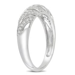 Miadora 10k White Gold 1/5ct TDW Diamond Ring - Thumbnail 1