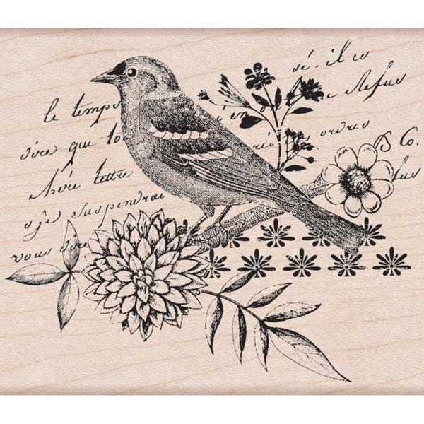 Hero Arts 'Bird Collage' Mounted Stamp