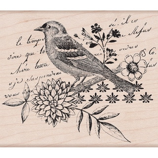 Hero Arts 'Bird Collage' Mounted Stamp