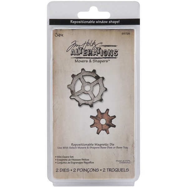 Sizzix Movers & Shapers Gears Magnetic Die Set (Pack of 2)