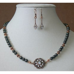 'Mercury Rising' Earring and Necklace Set
