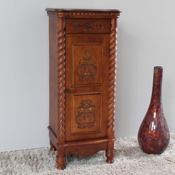 International Caravan Windsor Carved Wood Telephone Cabinet