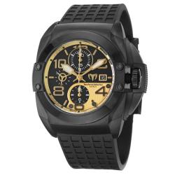 Technomarine Men's 'Blackwatch' Black PVD-coated Stainless Steel and Black Rubber Automatic Watch