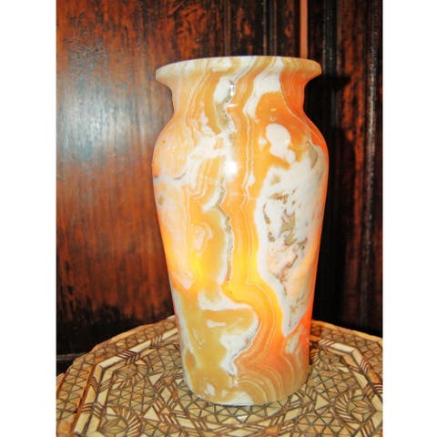 Handmade Canopic Jar Lamp (Egypt)