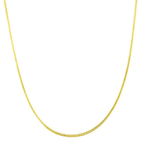 Fremada 14k Yellow Gold Square Foxtail Chain (16 - 20 inch)