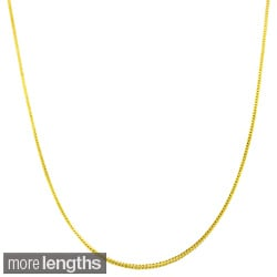 Fremada 14k Yellow Gold Square Foxtail Chain 16 20 Inch