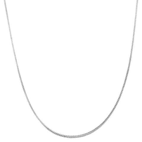 Fremada 14k White Gold Square Foxtail Chain (16 - 20 inch)