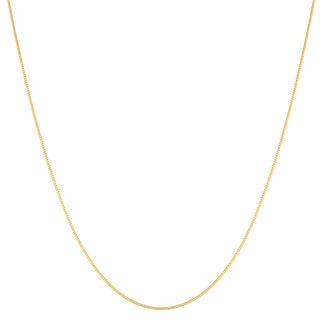 14k Yellow Gold Baby Curb Link Chain (16-20 inches)