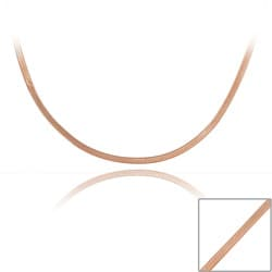 Mondevio Rose Gold Over Sterling Silver 18-inch Herringbone Chain Necklace