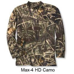 Beretta Men's Camo Long Sleeve Mock Turtleneck