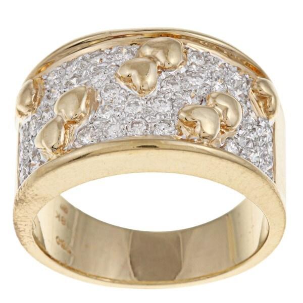 18k Two-tone Gold 5/8ct TDW Diamond Ring