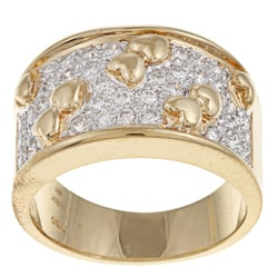 18k Two-tone Gold 5/8ct TDW Diamond Ring
