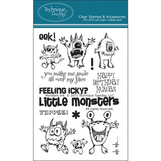 Technique Tuesday 'Monsters Ink' Clear Stamps