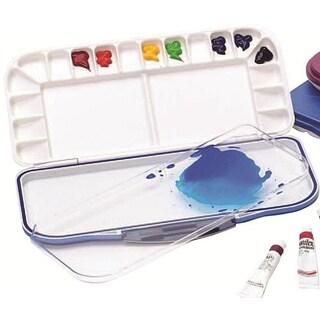 Mijello White Plastic Airtight Leak-proof Watercolor Palette