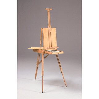 Rivera French Sketch Box Brown Wood Artist Easel with Palette