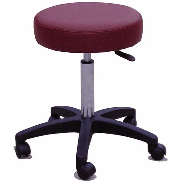 Rolling Adjustable Burgundy Medical/ Massage Stool