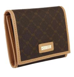 Rioni Signature Brown Tri-fold Wallet