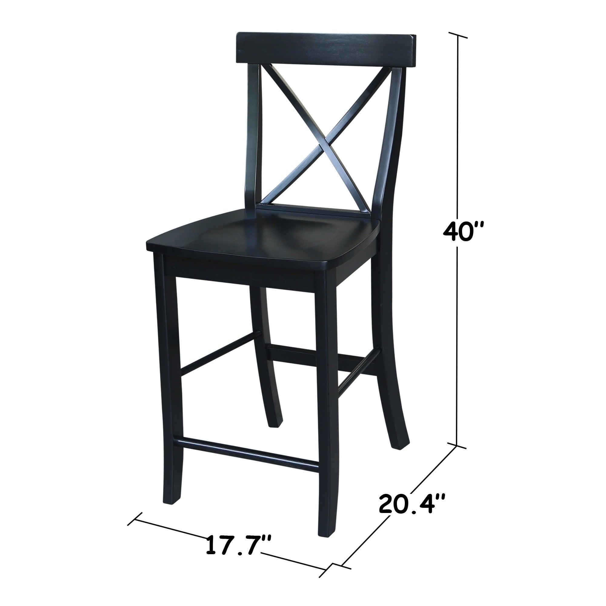 Fantastic X Back Counter Stool In Black N A Creativecarmelina Interior Chair Design Creativecarmelinacom
